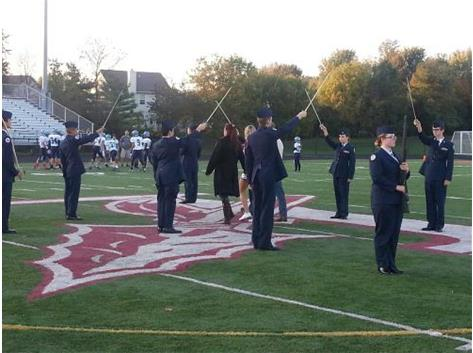 Jr. Air Force ROTC assists in the Sr. Recognition Night