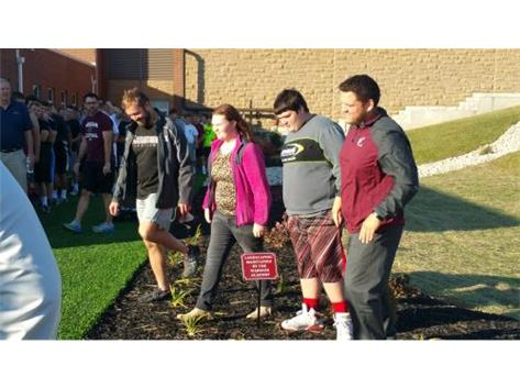 Warrior Academy recognized for their time and efforts for development of Sprint Track