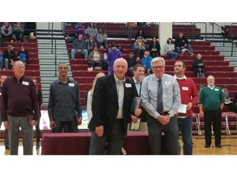 Dave Merchant 1977-2002, enters LHS Athletic Hall of Fame with his son Ty.