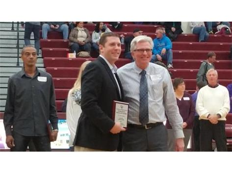 Ty Merchant Class of 2002 enters LHS Hall of Fame with his father, Dave.