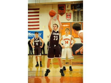 Brendan Lamb shoots a free throw at Beavercreek