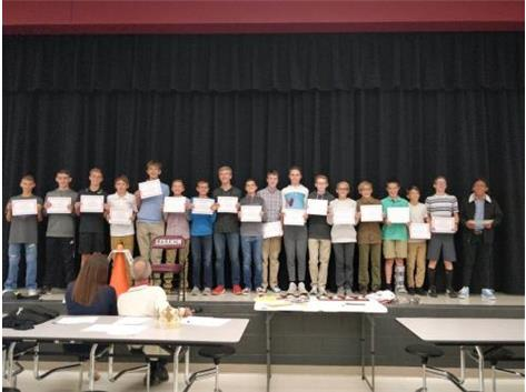 2018 8th Grade Boys CC Scholar Athletes