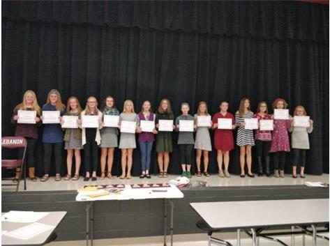 2018 7th Grade Girls CC Scholar Athletes