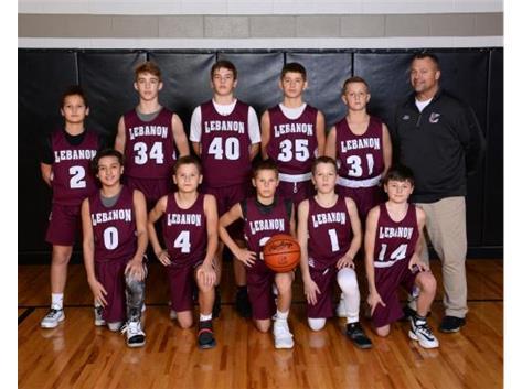 2019-2020 LJHS 7th grade Boys Maroon Basketball
