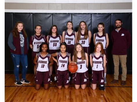 2019-2020 7th grade Girls White Basketball