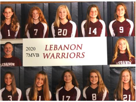 LJHS 7TH GRADE MAROON VOLLEYBALL