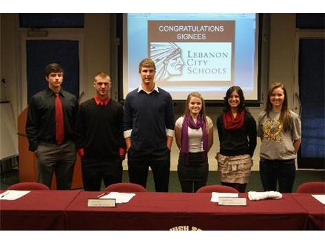2013 Collegiate Signees - Feb. 6