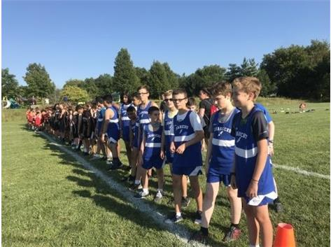 Boys on the line and ready to run