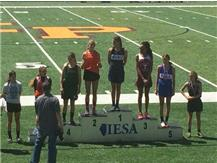 """Sechrest 5th place in the long jump at STATE with a new school record of 15' 7 3/4"""""""