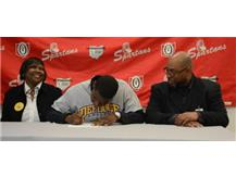 LSH defensive back Marquis Miller signs to play at Defiance College next year.