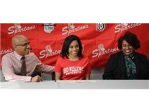 Paige Lofton has signed her National Letter of Intent to run track at Ohio Wesleyan University next year.