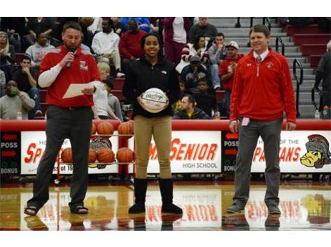 Spartan basketball player Rion Thompson joins the 1,000 point club.