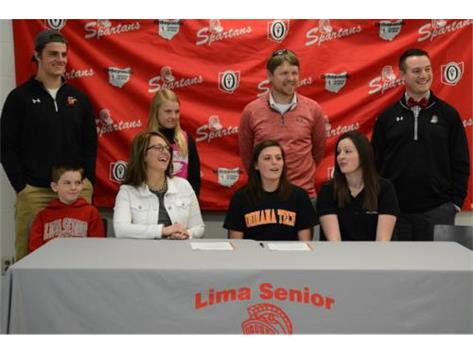 Spartan Mara Zell signs her National Letter of Intent to play at Indiana Tech next year.