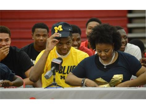 Spartan point guard Xavier Simpson commits to the University of Michigan.