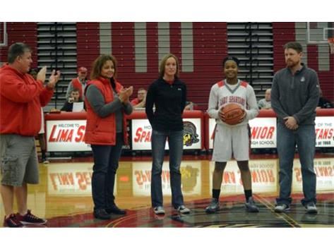 Senior Essence Cowan becomes the eighth Lima Senior girl to score 1,000 career points.