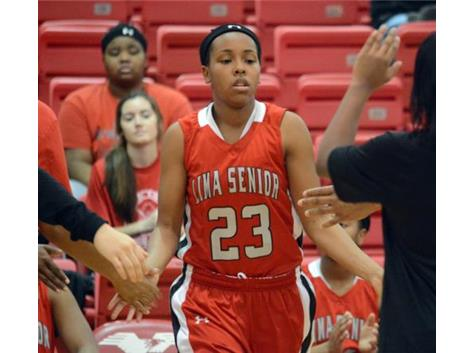 Rion Thompson scored 35 points against Fremont Ross to become the leading scorer in the history of Lima Senior girls basketball.