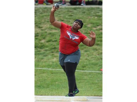 Freshman Ricquel Williams advanced to the State Shot Put Finals. She finished 11th.