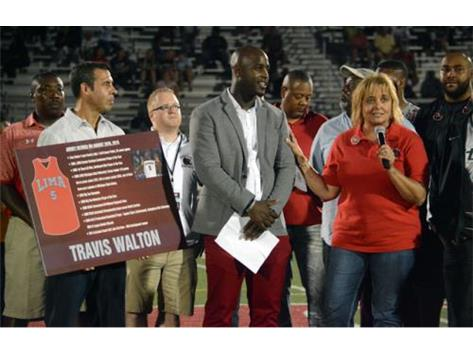 Lima Senior retires the jersey of LSH and Michigan State standout basketball player Travis Walton.