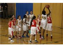 Kaylin Roberts-Wade putting back the rebound.