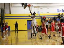 Allen Obazee with the layup.