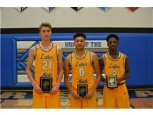 Thanksgiving All-Tournament Team:  MVP James Owen, Joseph Hoffmann, Tyrell Pettis