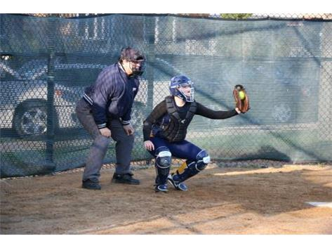 Rachel Lienemann behind the plate