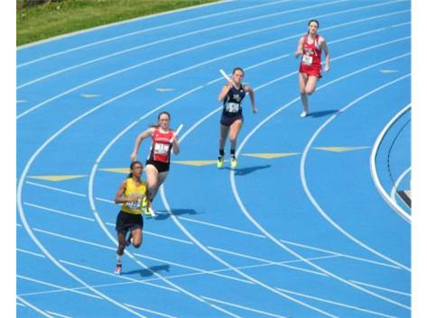 Senior Kayla Horne - 4x8 relay - State Champs