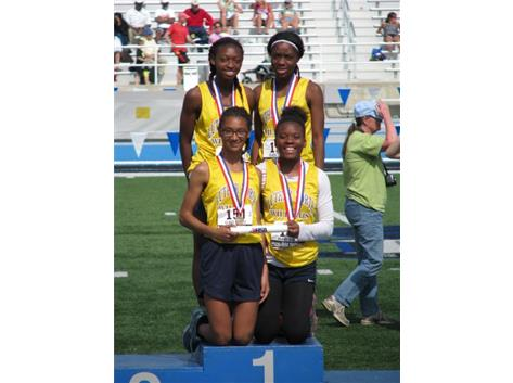 800m Relay Relay Team - State Champions - Kayla Horne, Ariel Allen, Kayla Armstrong, Jada Williams