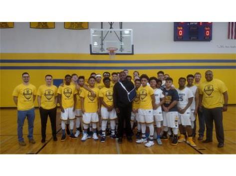 Malik Allen and his varsity team
