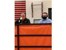 Justice Keene hard at work bringing you the Bomber games this year. Cameraman Tanner Scott on the assist. Justice doesn't trust him with a microphone! #OnceABomberAlwaysABomber #Macomb Macomb Sport Scores