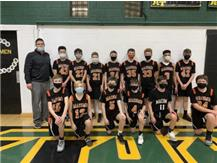 Congratulations to the 7th grade boys basketball team on their UNDEFEATED season! Way to go Bombers!!!