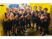 Bomber basketball goes UNDEFEATED beating rival Monmouth-Roseville 49-40! Ranked 9th in 2A state and 14-0 on the season. Go Bombers! (Covid protocol was followed in taking a quick team picture) #MAC185