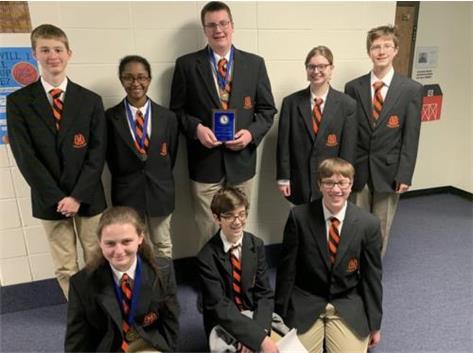 MHS Fresh-Soph Scholastic Bowl Team