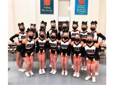 Thank you to MANY Macomb businesses and families for making this uniform purchase possible. Tonight was the first night our girls got to cheer out on the floor and man did they rock it in their new look! ????  (Not pictured Natalie and Claire) We can't wait to shine on the competition floor this year! ??