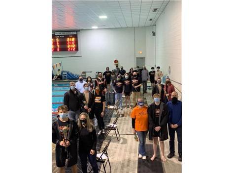On Senior Day the Bomber Boys Swim team defeats Kewanee, Wethersfield, United, Illini West, and West Hancock!