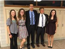 5 Cross Country Athletes inducted into NHS. Shelby Truckenbrod, Grace Knudsen, Spencer Hines, Tyler Guillum, Molly Sullivan
