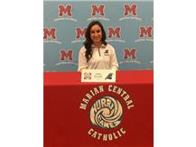 Congratulations to Amber Reynolds who signed her letter of intent to play basketball at Trinity International University.