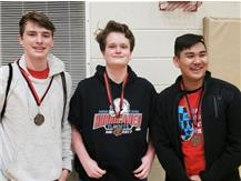 Congratulations to Alex Gilmore, Timmy Miller and Josh Arejola for earning medals at the Northern Illinois Chess League Conference on 1-12-19.