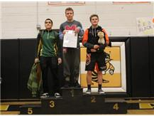 Congratulations to Daniel Valeria (132 lbs) for coming in 1st Place at the Class 2A Harvard Regional