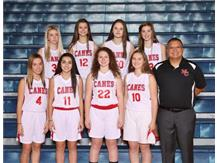 2019-2020 Girls Freshman Basketball Team.