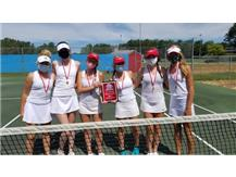 Congratulations to the girls tennis JV team for taking 1st place at the Grant High School JV tournament.