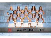 2020-2021 Girls Varsity Tennis Team
