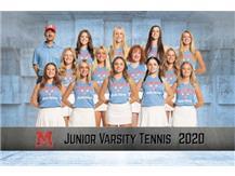 2020-2021 Girls JV Tennis Team