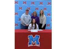 Congratulations to Alyssa Graf who signed her letter of intent to continue her academic and volleyball career Converse College.