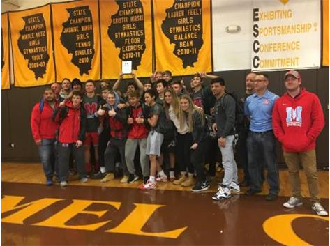 Congratulations to the wrestling team for winning the Carmel Team Wrestling Tournament.