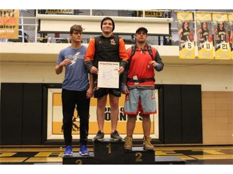 Zach Gustafson 2nd Place 195lb Regional.