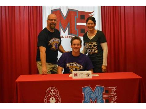 Congratulations to Isaac Kaufmann who has committed to attend McHenry County College, Baseball.