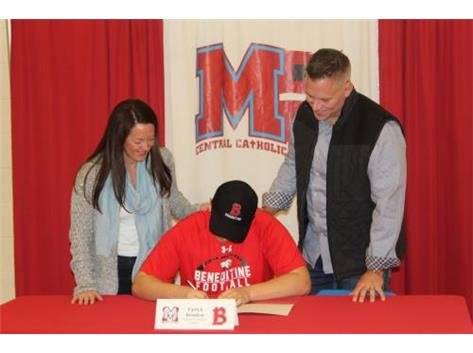 Congratulations to Patrick Brunken who has committed to attend Benedictine University- Football.