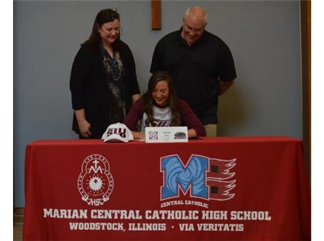 Congratulations to Amelia Awe who has committed to Southern Illinois University- Track and Field.