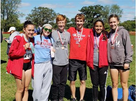 Cross Country ribbon/medal winners: Sara Kranenburg, Molly Sullivan, Peter Walsdorf, Ryan Jones, Caroline Binotti & Siobhan Stoll